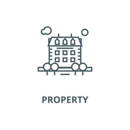 Illustration pour Property vector line icon, outline concept, linear sign - image libre de droit