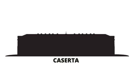 Illustration for Italy, Caserta city skyline isolated vector illustration. Italy, Caserta travel cityscape with landmarks - Royalty Free Image