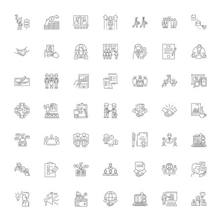 Illustration pour Business rules line icons, signs, symbols vector, linear illustration set - image libre de droit