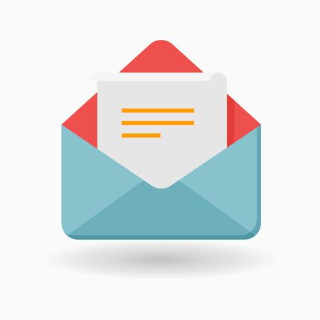 Illustration pour Letter icon - vector , eps10(flat icon , long shadow) - image libre de droit