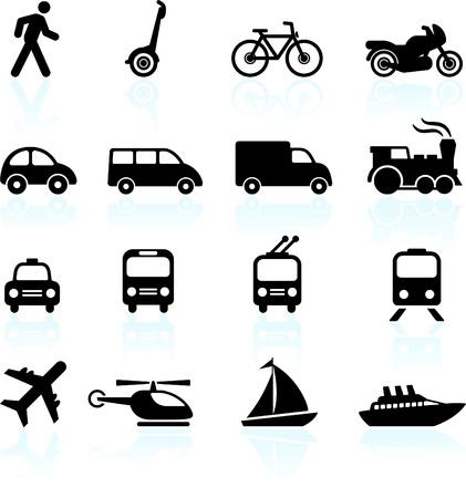 Ilustración de Original vector illustration: Transportation icons design elements - Imagen libre de derechos