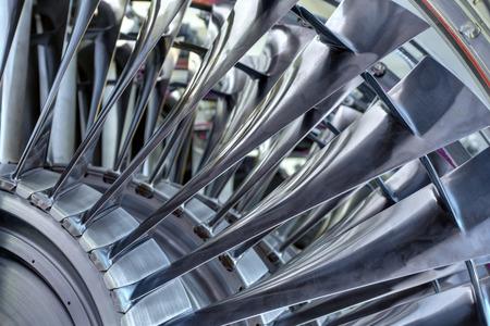 Foto de Turbo-jet engine of the plane, close up - Imagen libre de derechos