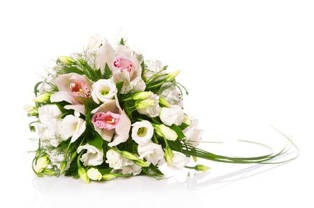 Foto de Bouquet of flowers isolated on white - Imagen libre de derechos