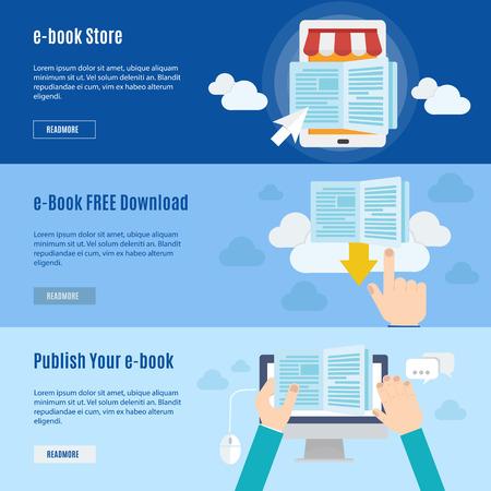 Illustration pour Element of ebook icon in flat design - image libre de droit