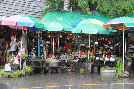Bangkok, Thailand - May 9, 2015: Chatuchak Weekend Market, with more than 8000 stalls and 9 kinds of goods, is the largest market in Thailand.