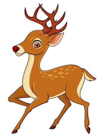 Photo pour Deer cartoon - image libre de droit