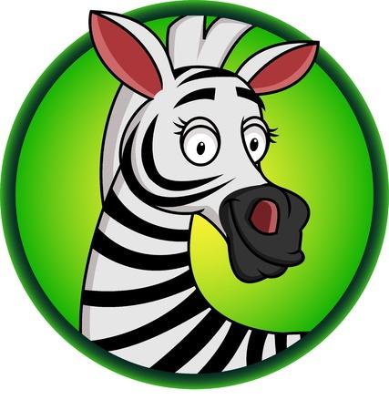 Illustration for Zebra cartoon  - Royalty Free Image