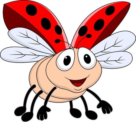 Photo for Lady bug flying  - Royalty Free Image
