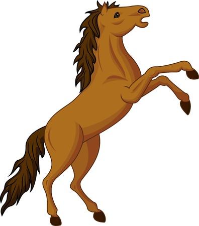 Illustration pour standing horse - image libre de droit