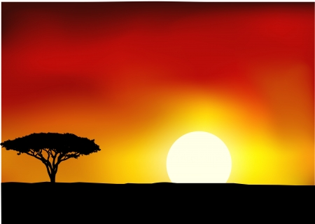 Illustration pour Africa landscape background  - image libre de droit