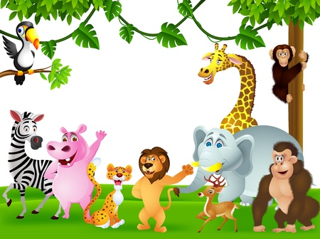 Photo for illustration of animal cartoon - Royalty Free Image