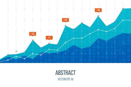 Illustration pour Business diagram graph chart. Investment growth. Investment business. Investment management. Financial strategy concept. - image libre de droit