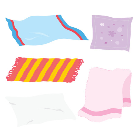 Illustration pour Carpet Towel Sheet Napkin Handkerchief Rag Fabric Cloth Cartoon Vector - image libre de droit