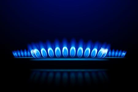 Illustration pour illustration of burner ring close up on dark background - image libre de droit
