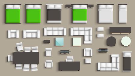 Ilustración de furniture big set - Imagen libre de derechos