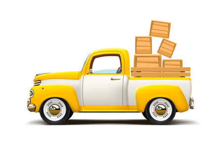 Ilustración de retro car two colored transportation - Imagen libre de derechos