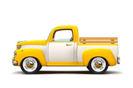 Illustrazione per retro two color pickup - Immagini Royalty Free