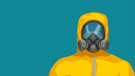 Illustrazione per hazard suit close front view - Immagini Royalty Free
