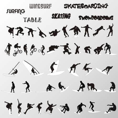 extreme sport vector shapes