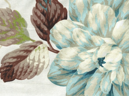 country style cotton fabric with floral pattern