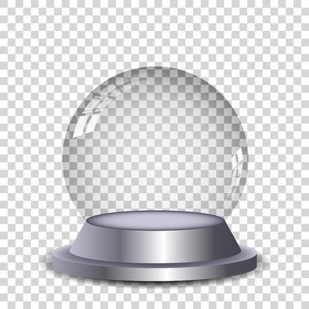Ilustración de Crystal ball with reflection isolated and transperent. Vector eps10. - Imagen libre de derechos