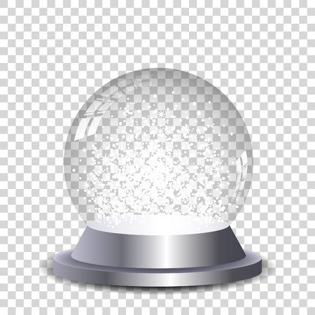 Illustration pour Crystal snowball transparent and isolated. Vector eps10. - image libre de droit