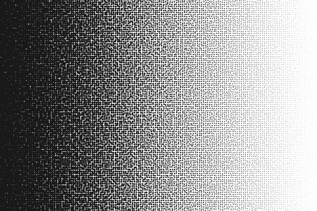 Ilustración de Halftone randomized moire pattern.Black dot pattern. Circle transition pattern background. - Imagen libre de derechos