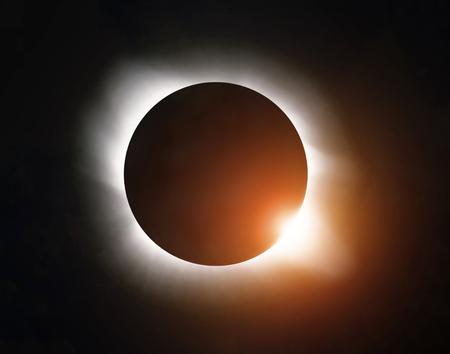 Photo pour Sun eclipse in the sky - image libre de droit