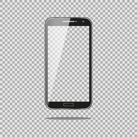 Illustration pour Realistic phone PC Computer with Transparent Screen Isolated on Background. Can Use for Template, Project, Presentation or Banner. for your web design - image libre de droit