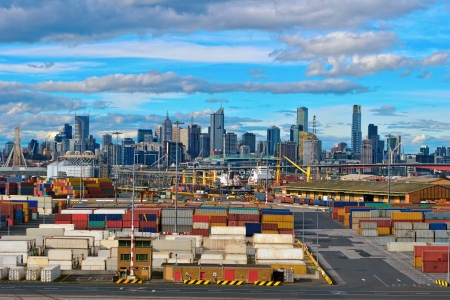 View of the port of Melbourne, Australia