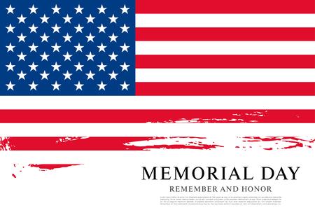 Illustration pour Memorial day. Remember and honor. Vector illustration - image libre de droit