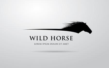 Illustration pour Horse logo design - image libre de droit