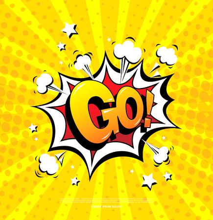 Ilustración de Go! Speech bubble icon - Imagen libre de derechos