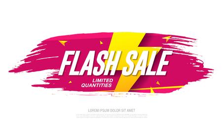 Illustration for Flash sale banner template design - Royalty Free Image