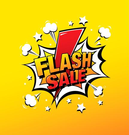Illustration for flash sale banner layout design, vector illustration - Royalty Free Image