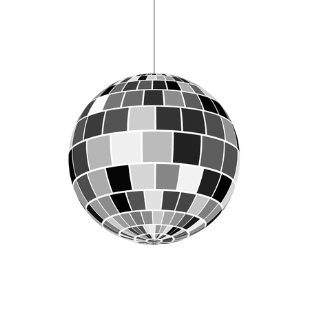 Foto de Disco ball icon. Symbol nightlife of 70s. Retro disco party. Vector illustration - Imagen libre de derechos