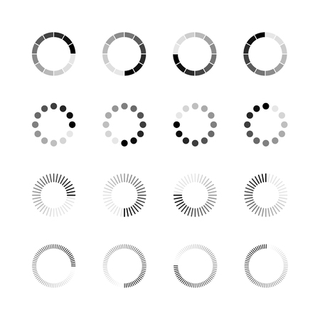 Illustration pour Loading icon set. Simple template of gradually upload or download indicator. - image libre de droit