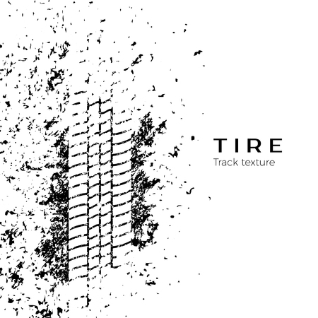 Illustration pour Tire track impression. Vector illustration isolated on white background - image libre de droit