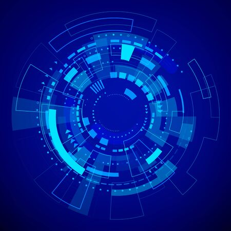 Illustration pour Futuristic Technology Pattern. Blue Abstract Digital Background. Vector illustration - image libre de droit