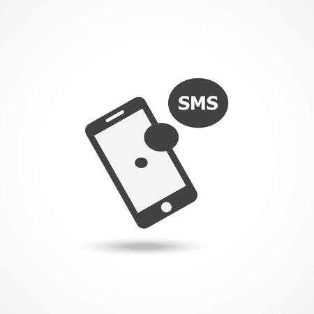 Illustration pour SMS icon - image libre de droit