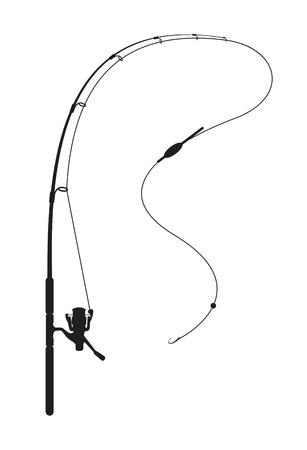 Ilustración de Fishing rod on white background - Imagen libre de derechos