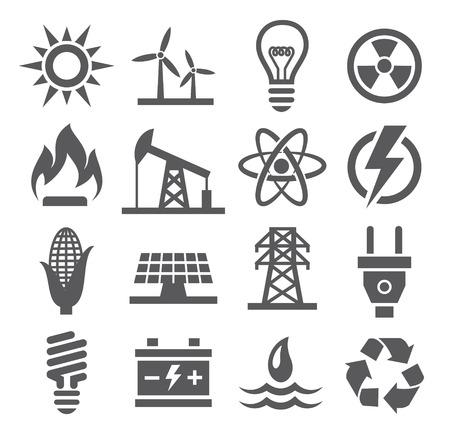 Illustration pour Energy icons - image libre de droit