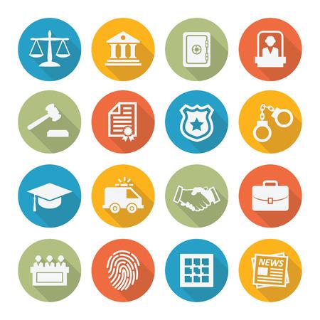 Illustration pour Law icons - image libre de droit