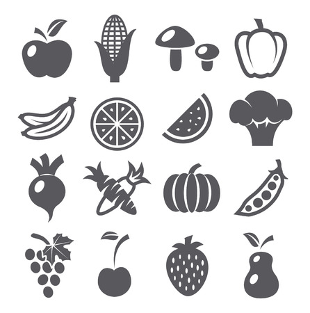 Photo for Fruits and vegetables icons - Royalty Free Image