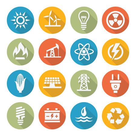 Ilustración de Energy icons - Imagen libre de derechos