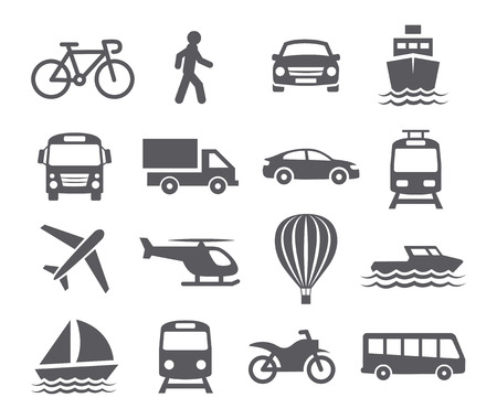 Photo pour Transport icons - image libre de droit