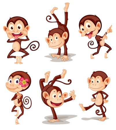 Illustraiton of comical monkey series