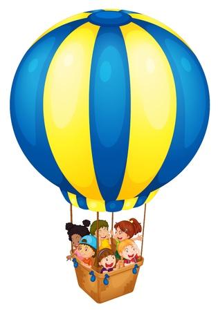 Illustration pour Illustration of a hot air balloon - image libre de droit