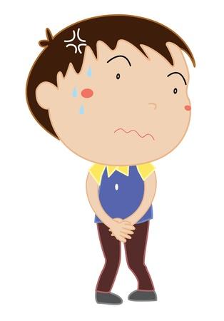 Simple cartoon of a cute boy
