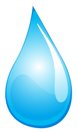 Illustration of a drop of water